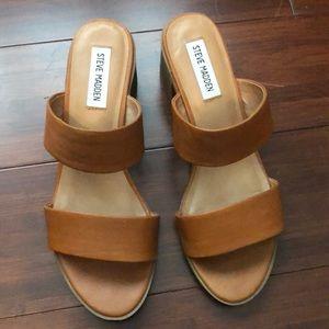 Steve Madden leather strap sandals